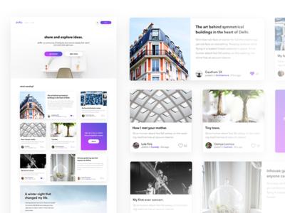 Driffle. A Blogging Platform.
