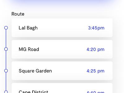 Transit — Bus Booking App interface design mobile bus ui ux ios modern app clean minimal