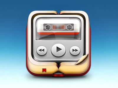 Audiobook icon dribbble