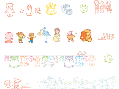 Kids @ Mail.Ru Illustrations icons illustrations kids children mother birth family woman women toys
