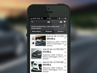 Auto iPhone App: Car Search Results