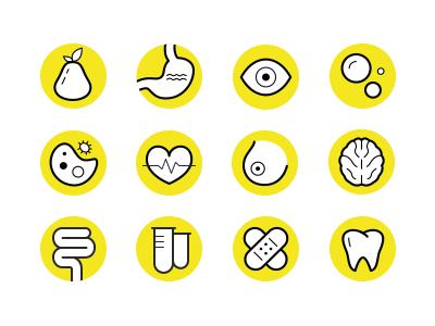 Medical Icon Set icons disease health body organ organism medicine medical