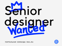 Senior Designer Wanted