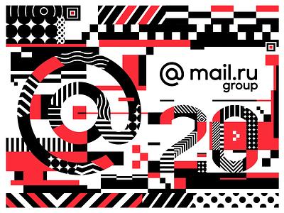 Mail.Ru 20 Years Anniversary digit number anniversary
