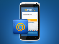 Mail.Ru Android App Login Screen