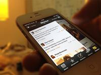 Futubra iPhone App Newsfeed Switching