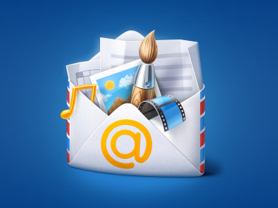 Illustration for In-Email Use email icons documents icon illustration illustrations envelope mail attachments files