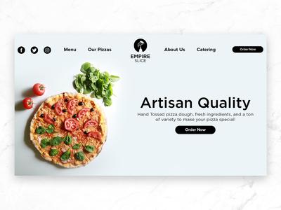 Empire Slice Landing Page Design