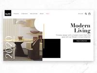 Slate Furniture Landing Page Design