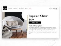 Slate Furniture Product Page Design