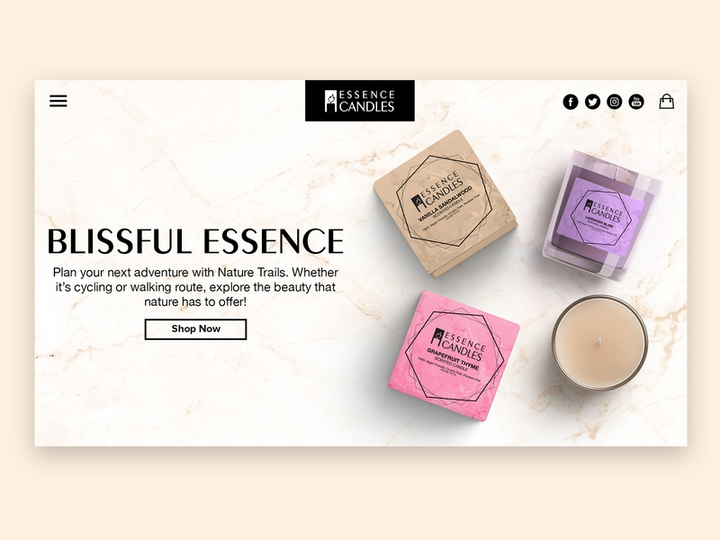 Essence Candles Landing Page