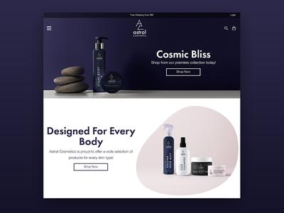 Astral Cosmetics Web Design