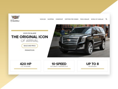 Landing Page Redesign For Cadillac