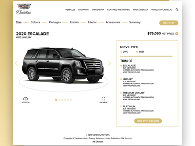 Build And Price Website Redesign For Cadillac