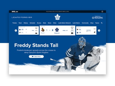Toronto Maple Leafs Landing Page Redesign