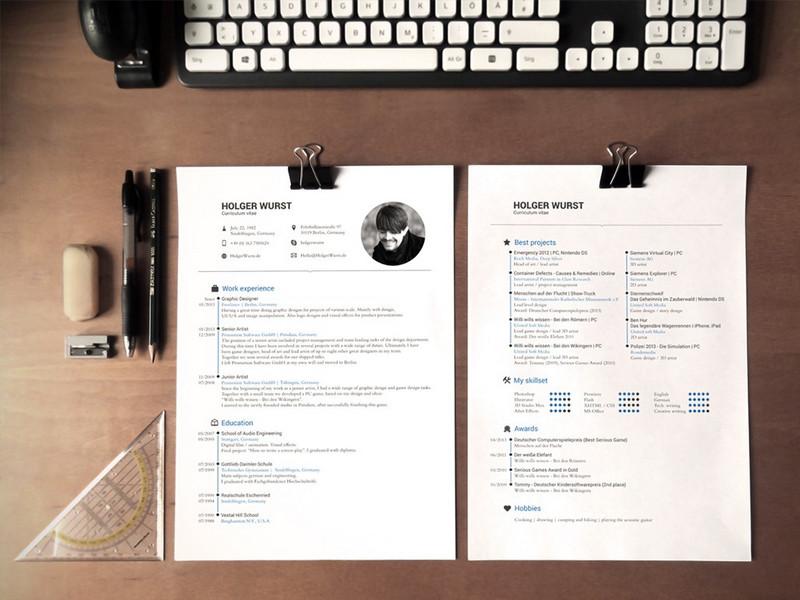 cv    resume mockups by photoshop lady
