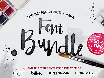 Hand Crafted Font Bundle designer design bundle fonts font