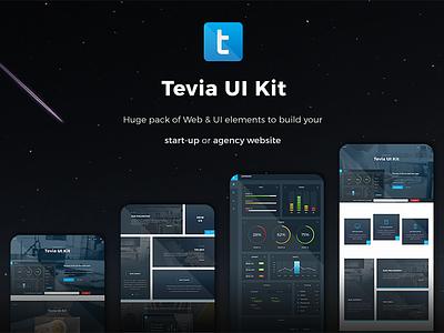 Tevia UI Kit uikit blue clean deal dashboard interface ux ui ui-kit