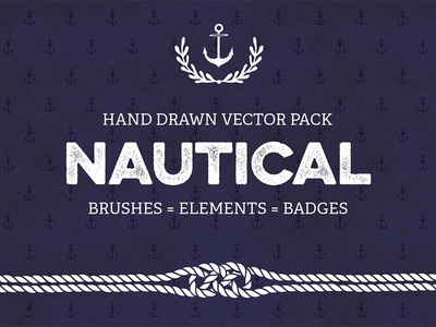 Nautical Vector Pack psd photoshop badges elements brushes vector