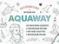 AquaWay Watercolored Vector Pack