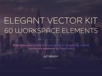 Elegant Vector Kit with 60 Workspace Elements