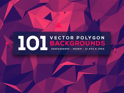 101 Vector Polygon Backgrounds graphic jpg svg ai deal polygon vector background