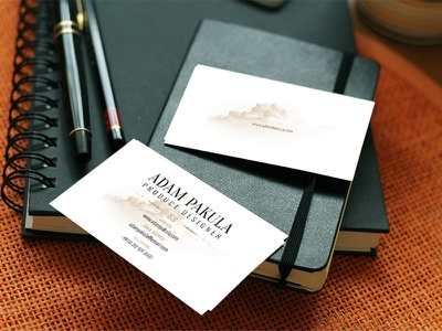 Free Download: Business Card Mockup psd free freebie business card mockup business card