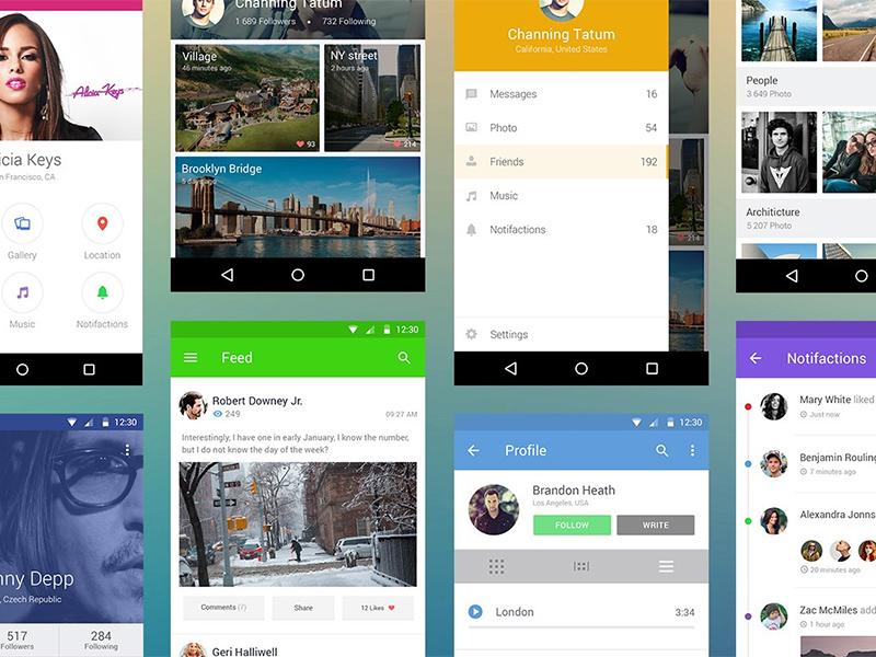 Android UI Kit mobile psd ui-kit ui android freebie free