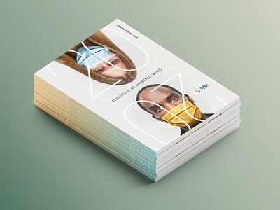 2021 Tyler Technologies Annual Report book book design design annual report spire dallas graphic design