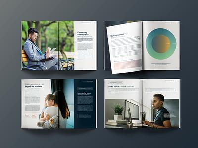 2021 Tyler Technologies Annual Report b2b editorial print book design annual report spire dallas