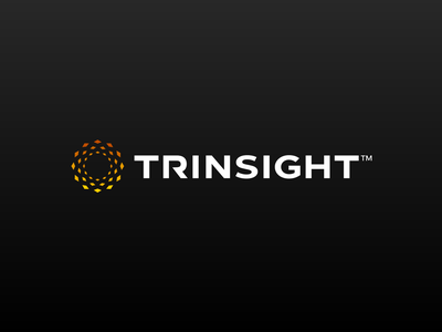 Trinsight Logo transportation train logo design branding graphic design dallas spire