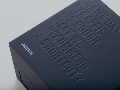 Airbus Dallas Cowboys Suite Box branding design graphic design dallas b2b spire