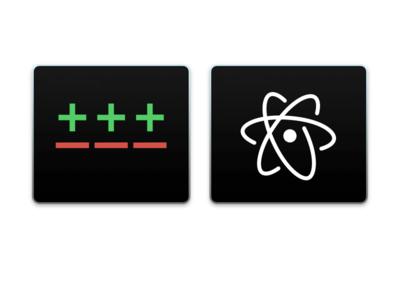 Gitx & Atom atom git icons