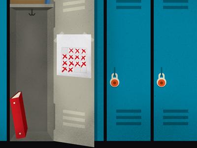 Lockers illustration lockers school