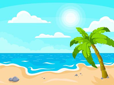 """Summer dream"" background ai 2d 2dillustration flat illustration vector"