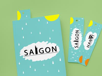 Saigon- Hanoi Cities Vietnam vietnam hanoi saigon bookmark books graphic design design adobeillustrator illustration digitalart