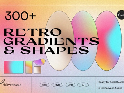 Angeles - Retro Gradients and Textures aesthetic illustration design texture noise liquid instagram grainy grain texture grain gradient gradient texture gradient shapes gradient background gradient colorful branding blurry background animated gradient abstract