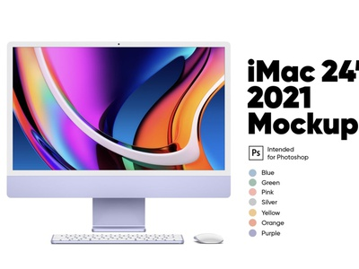 "iMac 24"" 2021 Mockup website webpage web ux ui presentation theme macbook mac laptop display simple clean realistic phone mockup smartphone device mockup abstract phone"
