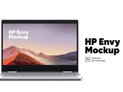 HP Envy Mockup design website webpage web ux ui presentation theme macbook mac laptop display simple realistic phone mockup smartphone device mockup abstract phone