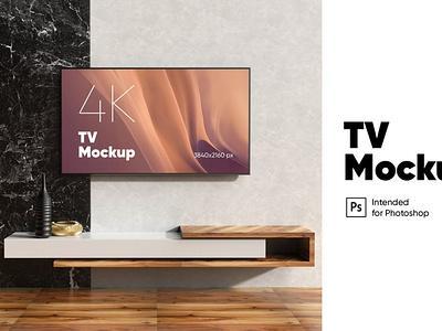 TV Mockup ui presentation theme macbook mac laptop simpel clean realisitc tv monitor pro screen mockup interface web os retina display application