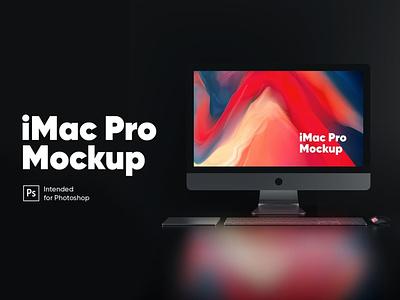 iMac Pro (Night Version) Mockup website webpage web ux ui presentation theme macbook mac laptop display simple clean realistic phone mockup smartphone device mockup abstract phone