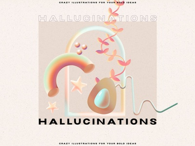Gradient Hallucinations - 3D Illusion ui logo motion graphics animation graphic design illustration aesthetic backgrounds background design shapes illusion holographics hallucinations gradient geometric concept abstract 3d illusion 3d