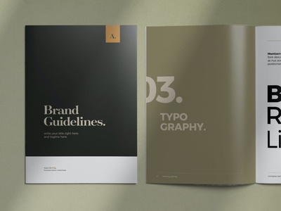Brand Guidelines Template design magazine layout indesign editorial creative business brochure branding brand guidelines brand
