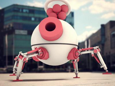 Robot motion design 3d character
