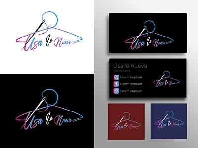 "graphic identity ""Usa lo nuevo"" motion graphics branding design business card graphic design"