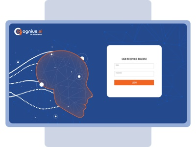 Login Page - Cognius 2020 trend simple signup login login page website logo dashboard clean web ui minimal illustration design ux