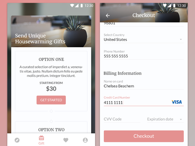 DailyUI #002 - Checkout bottom navigation ui text field labels input subscription checkout shifting bottom navigation bar daily ui daily challenge android