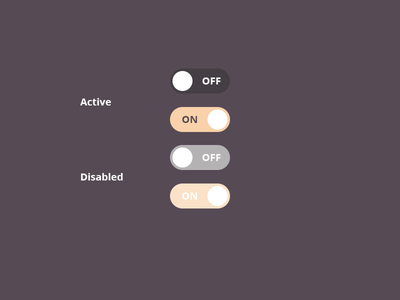 DailyUI #015 - On Off Switch component daily ui toggle switches toggle switch challenge