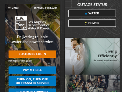 LADWP - Responsive Web Design customer utility rwd responsive desktop mobile