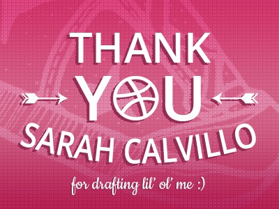First Shot! arrow ball basketball shoe dribbble invite drafted thank you pink first shot